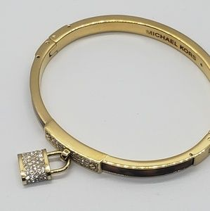 Michel Kors Gold Prints Brown Criystal Bracelet